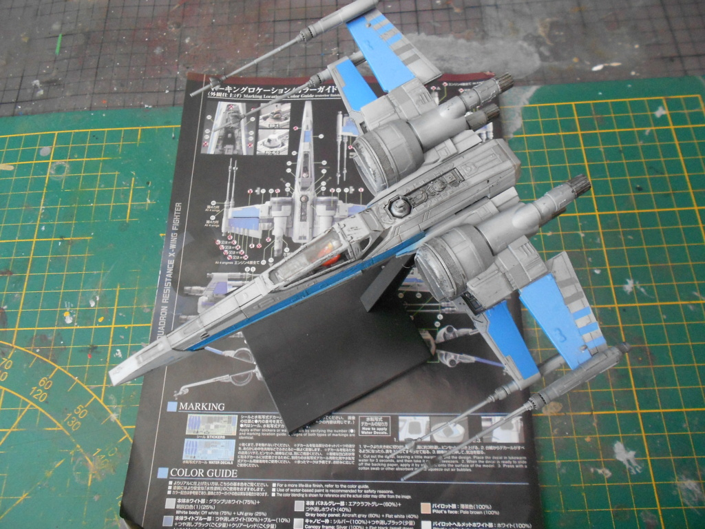 star wars blue squadron resistance x-wing fighter 1/72 bandai  - Page 2 Dscn5603