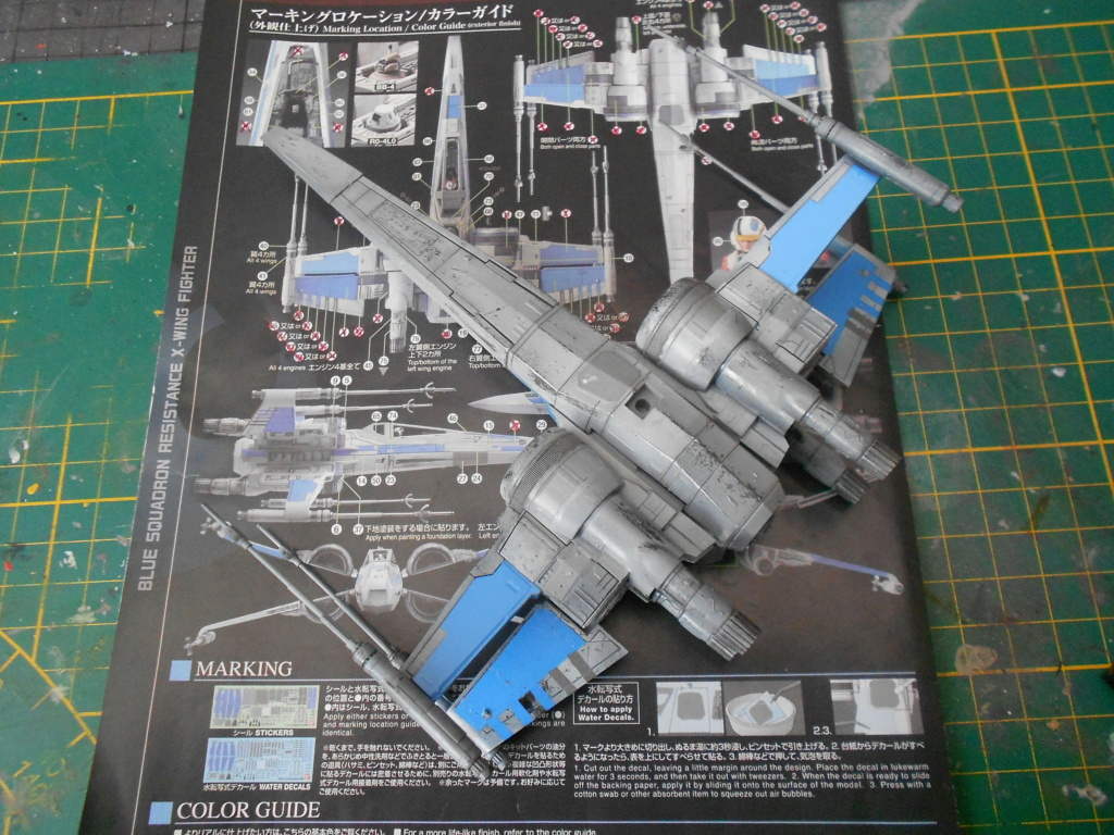 star wars blue squadron resistance x-wing fighter 1/72 bandai  - Page 2 Dscn5604