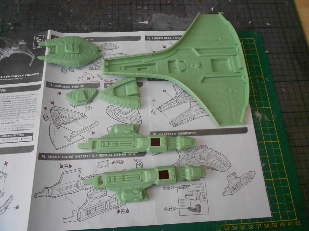 """star trek klingon vor""""cha-class battle cruiser Dscn5677"""