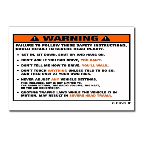 Warning Sticker Warnin10