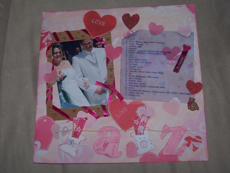 fevrier 2010 : encore une page pour mon album mariage Scrapb15