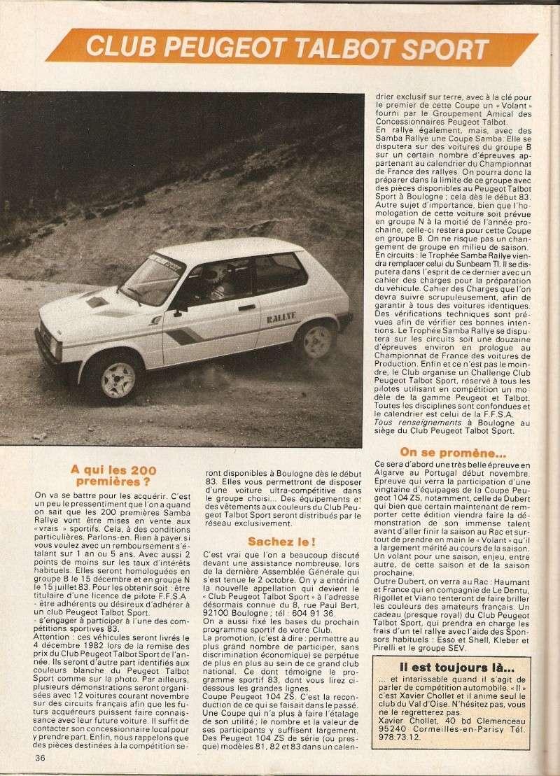 recherche article photos doc sur la samba rallye en Groupe N Numari10