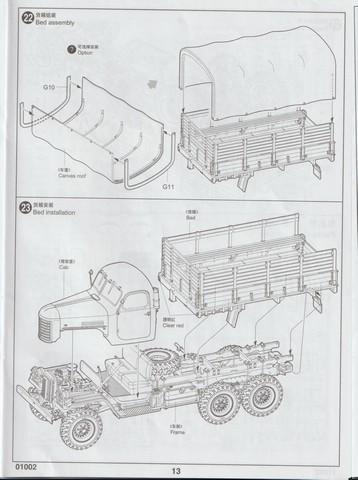 [TRUMPETER] Camion militaire chinois JIENFANG CA-30 1/35ème Réf 01002 01311