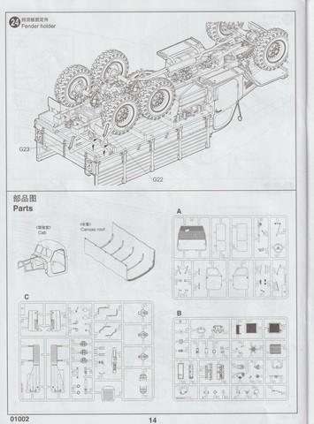 [TRUMPETER] Camion militaire chinois JIENFANG CA-30 1/35ème Réf 01002 01411