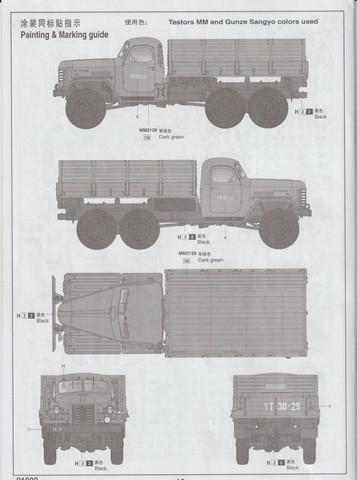 [TRUMPETER] Camion militaire chinois JIENFANG CA-30 1/35ème Réf 01002 01611