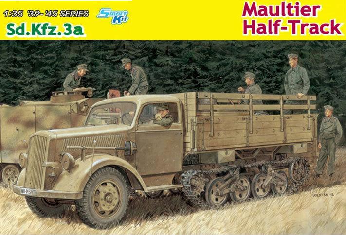 [DRAGON] Camion utilitaire Sd.Kfz.3a MAULTIER semi-chenillé 1/35ème Réf 6761 R61e6110