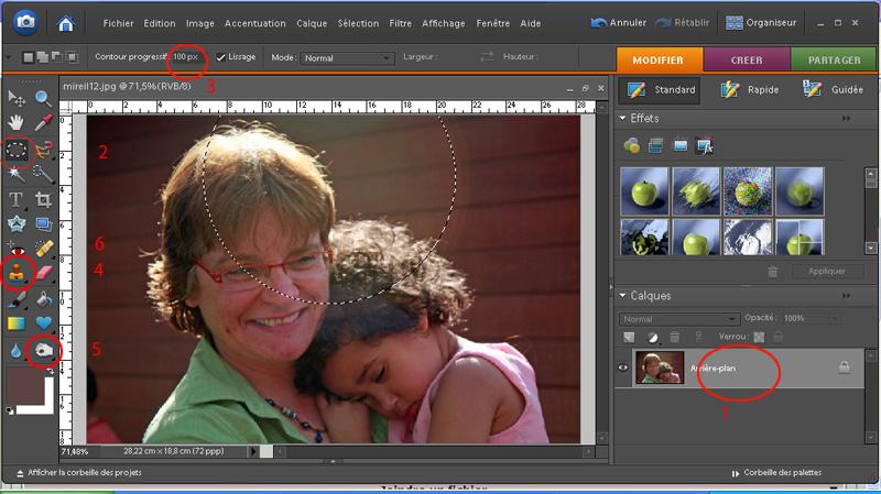 Comment supprimer un halo ? Photoshop CS et Element Sans_t12
