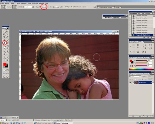 Comment supprimer un halo ? Photoshop CS et Element St110
