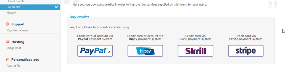 Add more payment methods Credit10