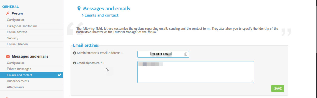 Change forumotion notification email to YOUR forums email Mail10