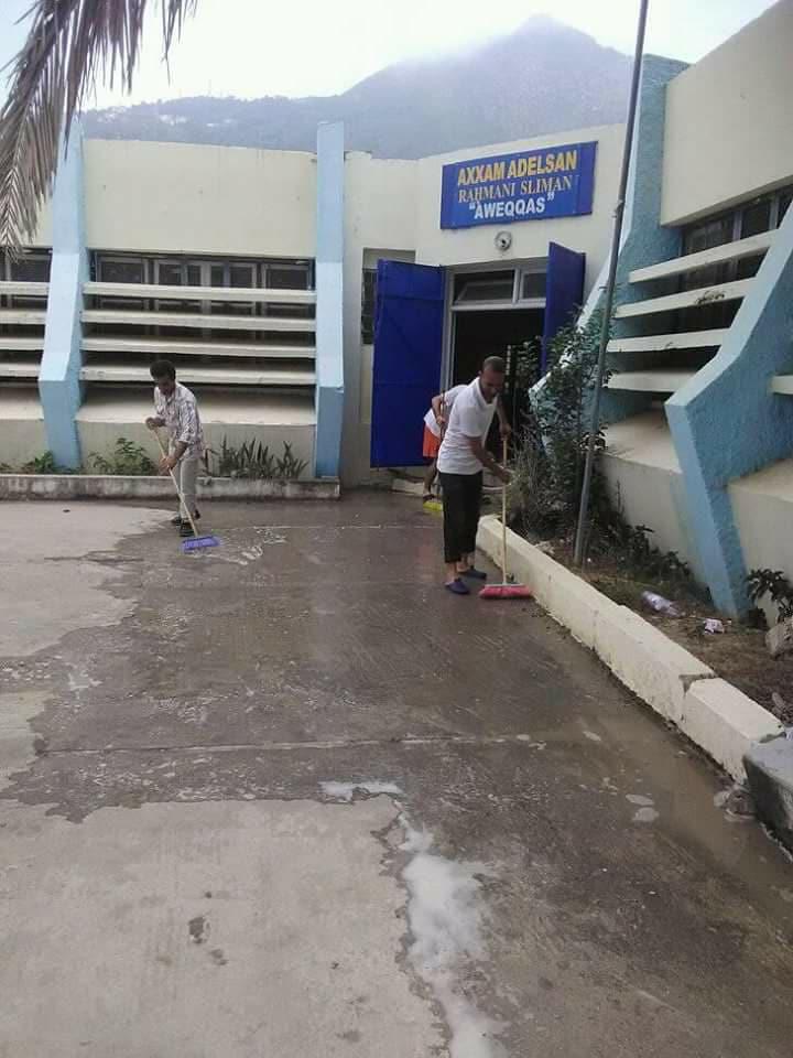 Volontariat pour le nettoyage du centre culturel à Aokas vendredi 20 juillet 2018 10283