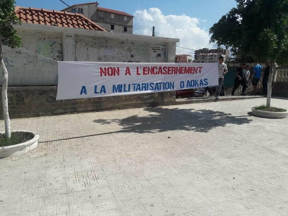 Aokas 20 août 2018  Rassemblement contre la construction d'un celebatorium de police  10301