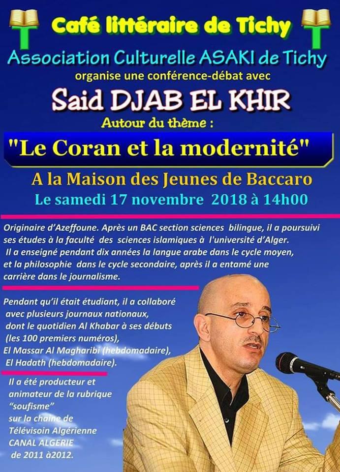 Saïd djabelkhir à Tichy le samedi 17 novembre  2018 10785