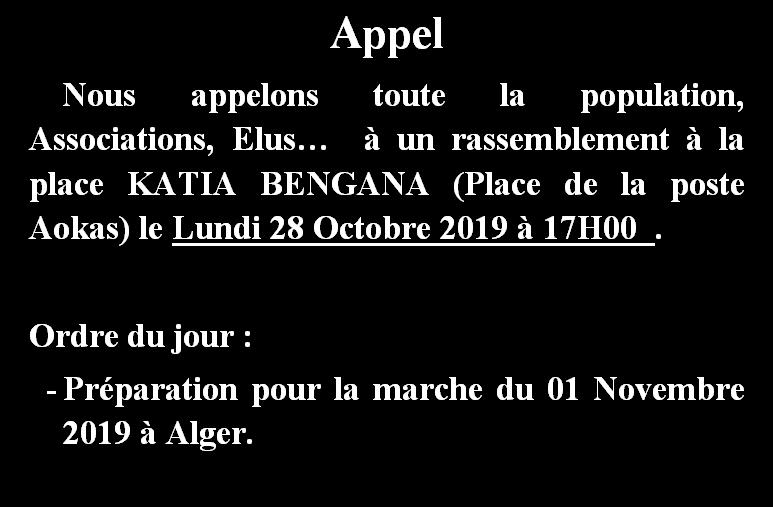 Aokas: Préparation pour la marche du 01 Novembre 2019 à Alger 110