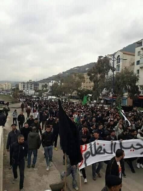 marche contre le cinquième mandat à Tichy le jeudi 21 février 2019 1102