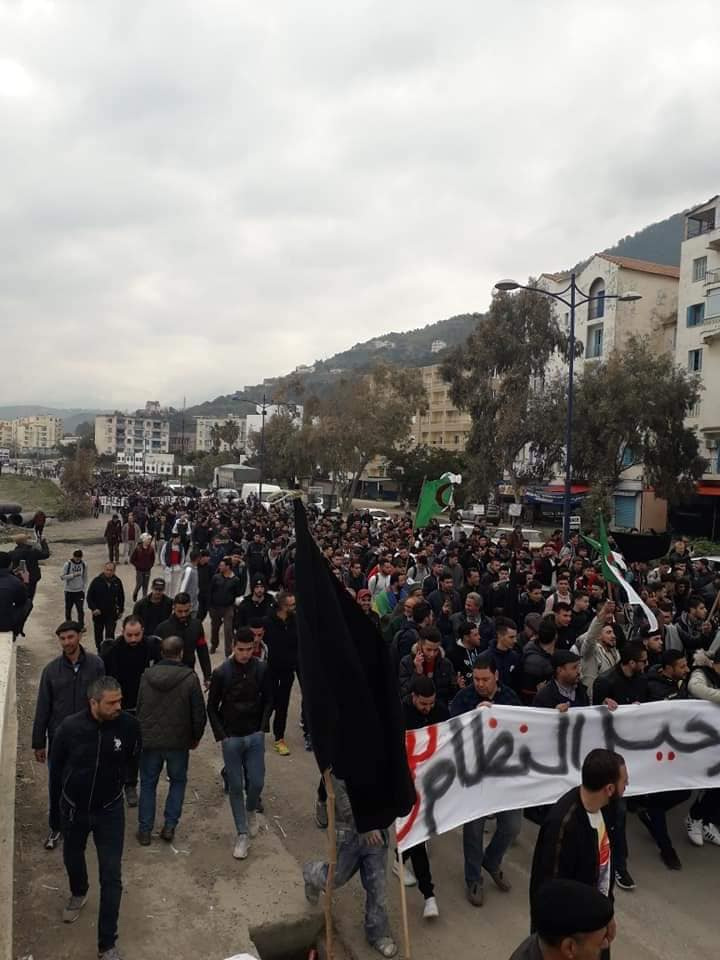 marche contre le cinquième mandat à Tichy le jeudi 21 février 2019 1106