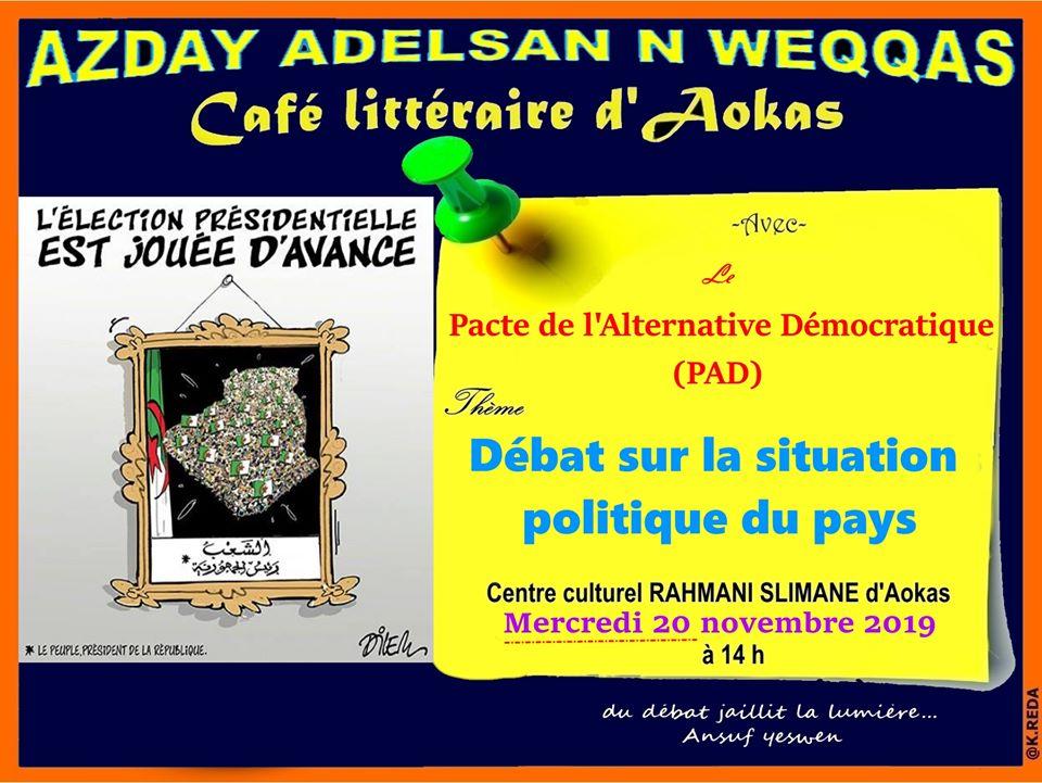 conférence du Pacte de l'alternative Démocratique à Aokas le mercredi 20 novembre 2019  11404