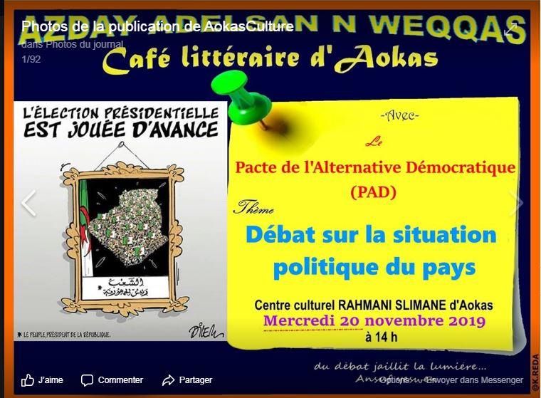 conférence du Pacte de l'alternative Démocratique à Aokas le mercredi 20 novembre 2019  11405