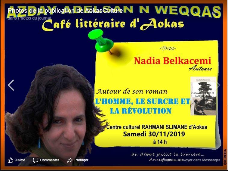 Nadia Belkacem à Aokas le samedi 30 novembre 2019 11458