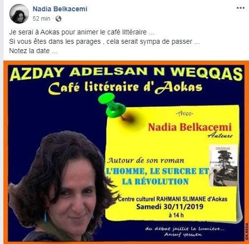 Nadia Belkacem à Aokas le samedi 30 novembre 2019 11474