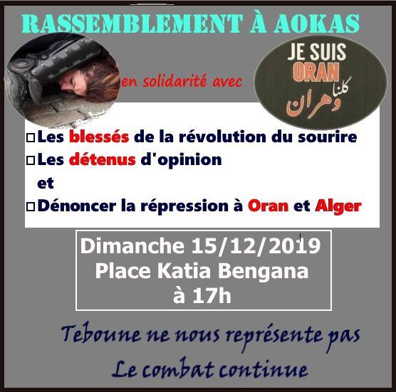 Rassemblement à Aokas en solidarité avec Oran le dimanche 15 décembre 2019 11628