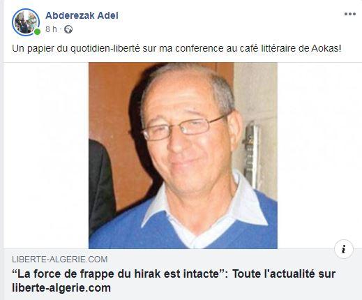 Adel Abderezak  à Aokas le samedi 21 décembre 2019 11749