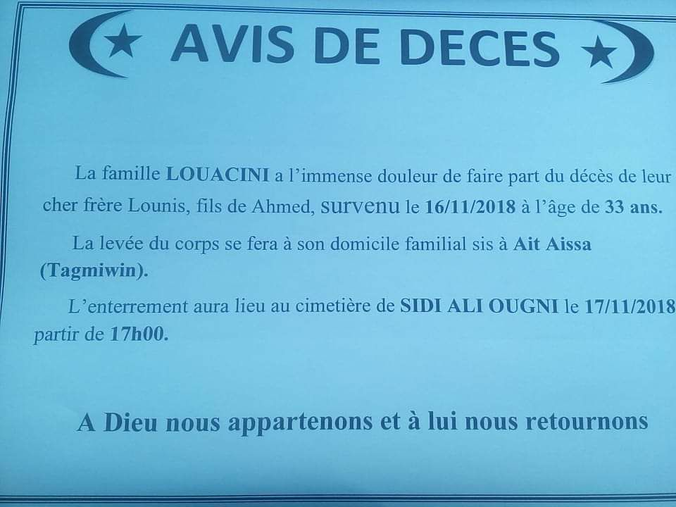 Adieu Lounis Louacini! 1178