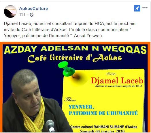 Djamel Laceb à Aokas le samedi 04 janvier 2020 11784