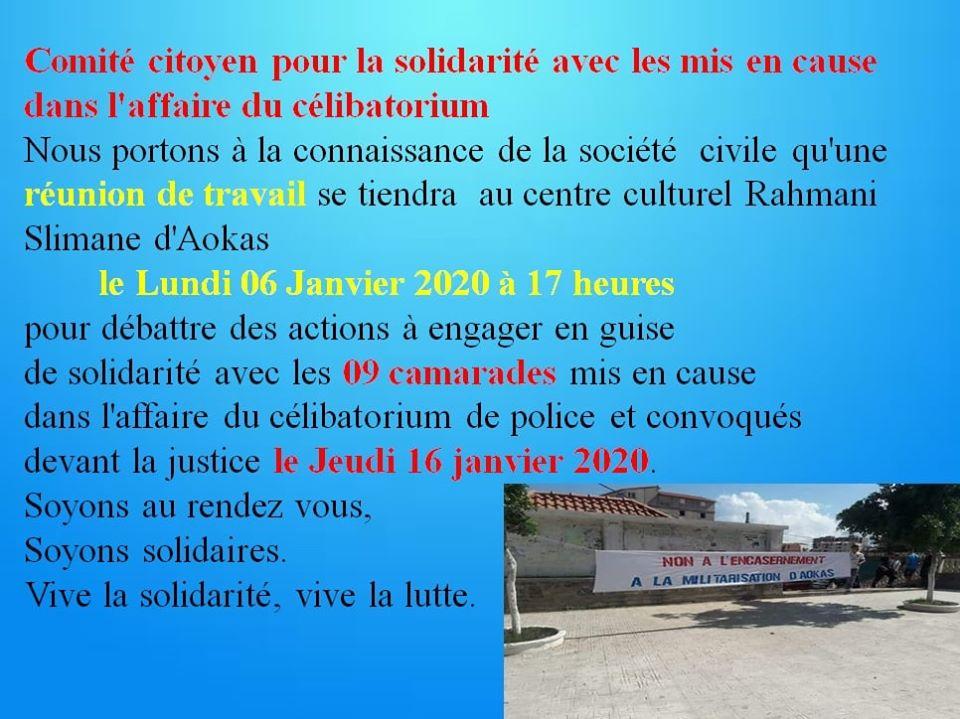 Comité citoyen pour la solidarité avec les mis en cause dans l'affaire du célibatorium 11802