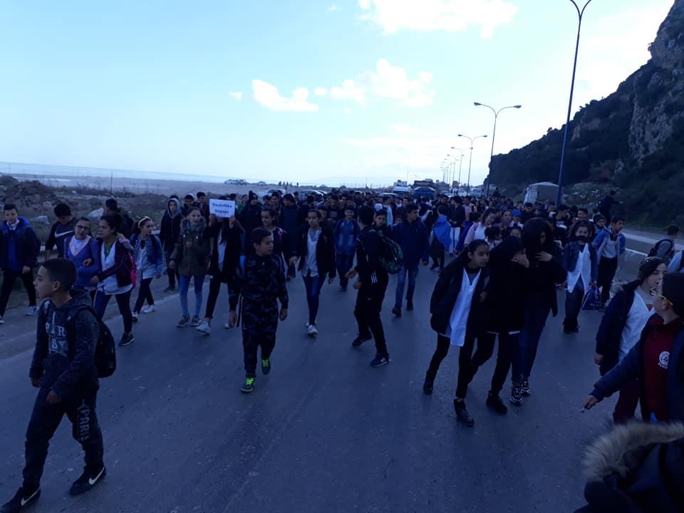 marche des lycéens contre le cinquième mandat à Aokas le lundi 25 février 2019 1198