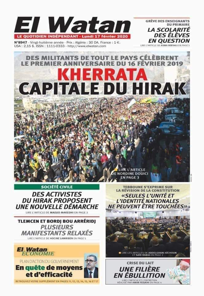 1er anniversaire du Hirak : Imposante marche à Kherrata (16 fevrier 2020) 11989