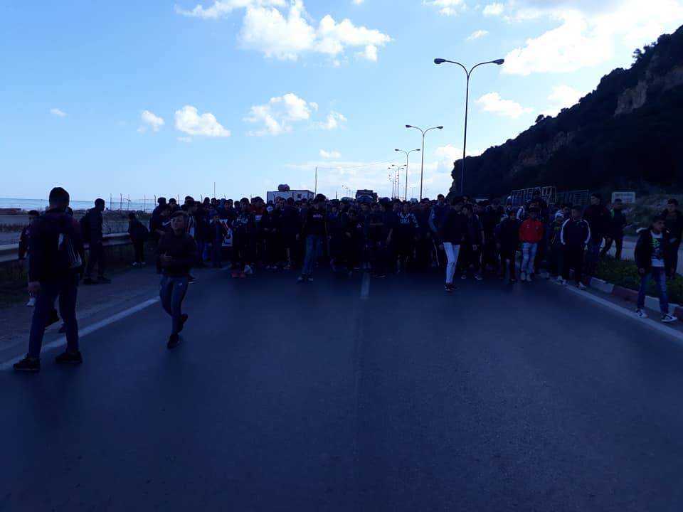 marche des lycéens contre le cinquième mandat à Aokas le lundi 25 février 2019 1201