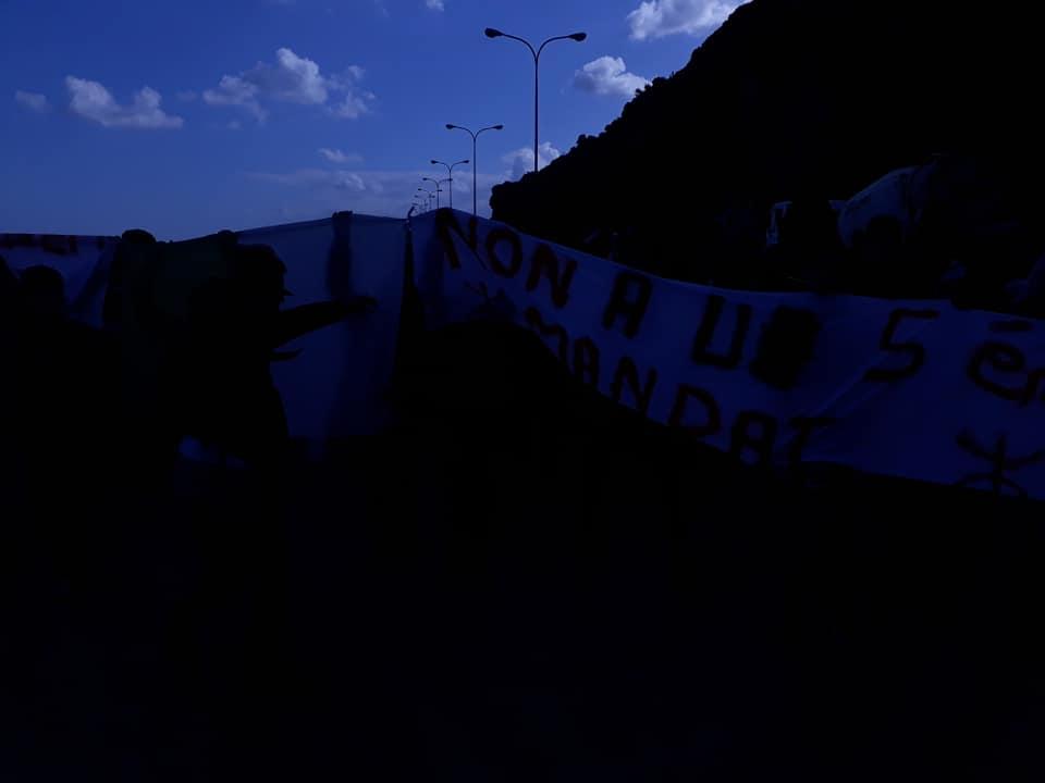 marche des lycéens contre le cinquième mandat à Aokas le lundi 25 février 2019 1202