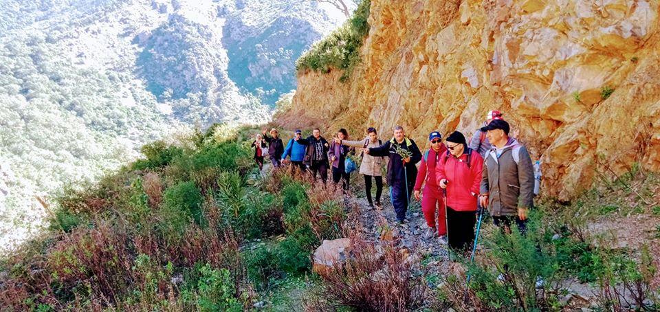 Randonnée pédestre Akkache, Cascade Mahrouja- cimetière des Martyrs- le canyon BOUHALOUMEN-Tizi warle samedi 22 février 2020 12120