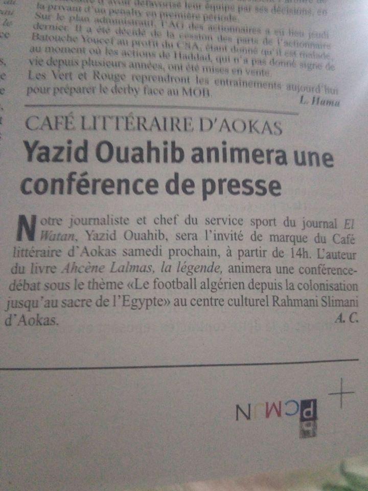 Yazid Ouahib à Aokas le samedi 14 mars 2020 12310