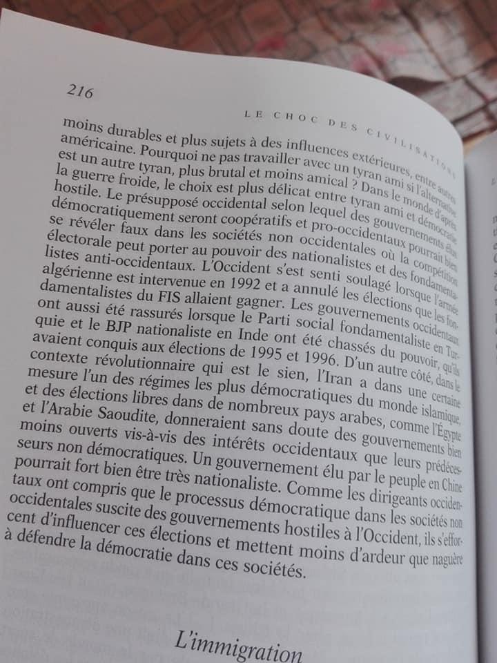"""Le Choc des civilisatiosn"" Samuel Huntigton 12408"