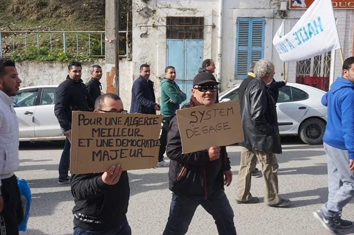 Marche à Aokas le mercredi 27 février 2019 pour exiger le départ de ce système voyou et mafieux 1383