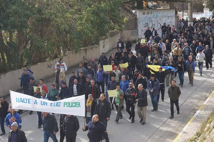 Marche à Aokas le mercredi 27 février 2019 pour exiger le départ de ce système voyou et mafieux 1388