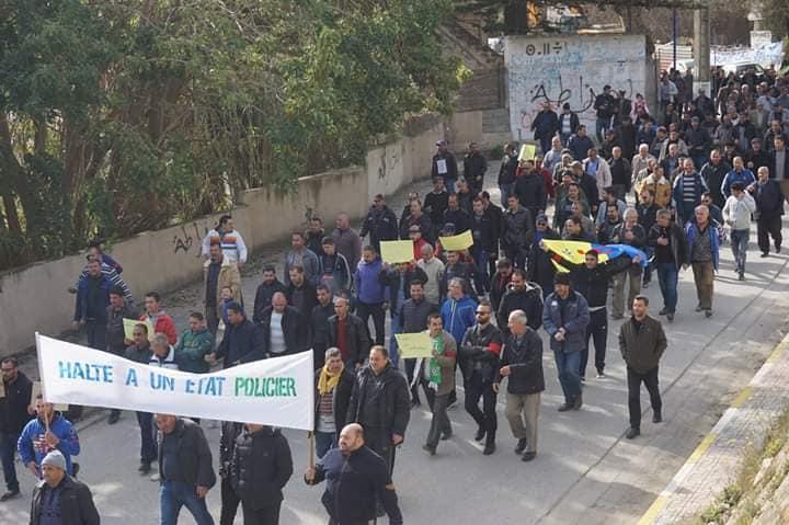 Marche à Aokas le mercredi 27 février 2019 pour exiger le départ de ce système voyou et mafieux 1389