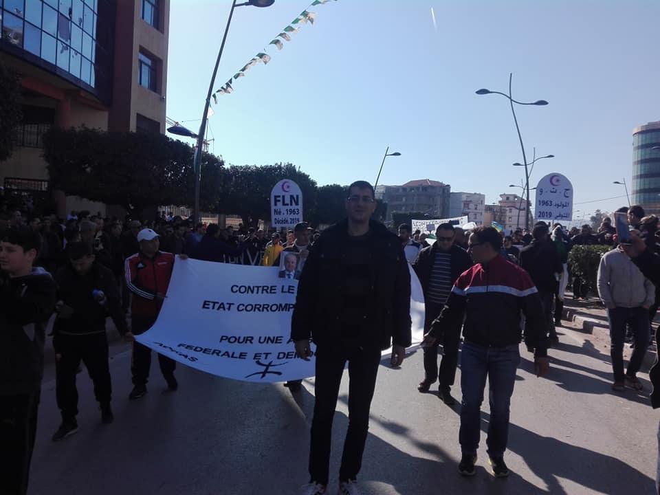 Impressionnante marche à Béjaïa le samedi 01 mars 2019 contre le système 1485