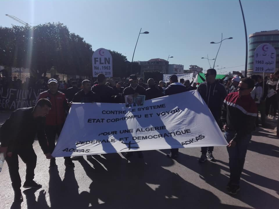 Impressionnante marche à Béjaïa le samedi 01 mars 2019 contre le système 1487