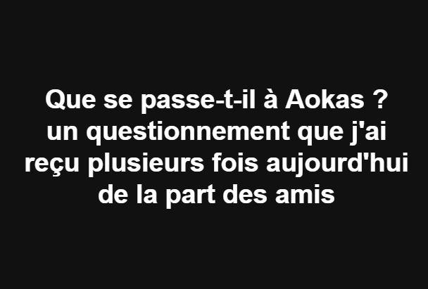 Que se passe-t-il à Aokas ? 1823