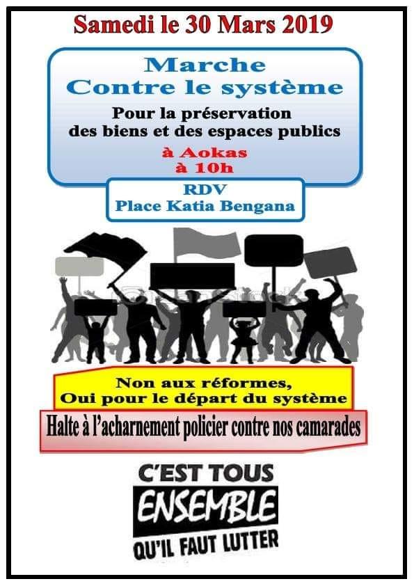 Marche contre le système à Aokas le samedi 30 mars 2019 1827