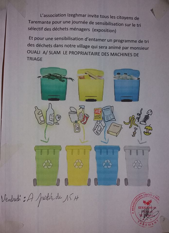 Sensibilisation sur le tri sélectif des déchets à Taremant vendredi 26 octobre 2018 20112