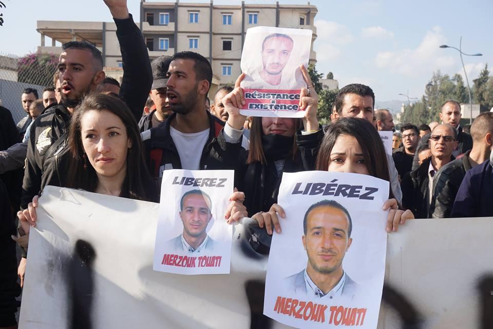 marche des libertés le 10 décembre 2018 à Bejaia pour libérer Merzouk Touati et tous les détenus d'opinion 20218