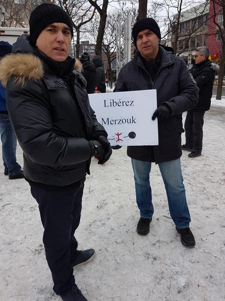 Rassemblement pour la libération de tous les détenus d'opinion à Montréal  le dimanche 09 décembre 2018 20246
