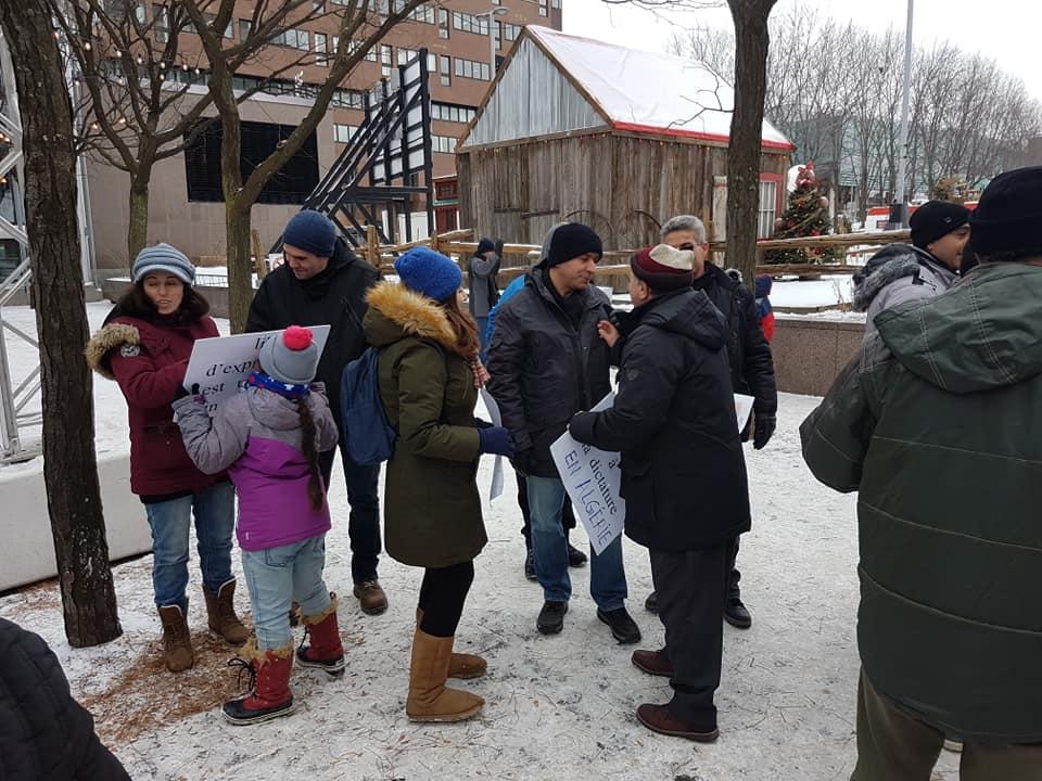 Rassemblement pour la libération de tous les détenus d'opinion à Montréal  le dimanche 09 décembre 2018 20248