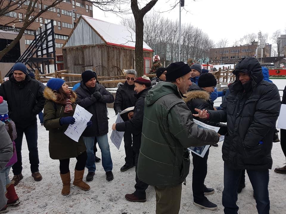 Rassemblement pour la libération de tous les détenus d'opinion à Montréal  le dimanche 09 décembre 2018 20251
