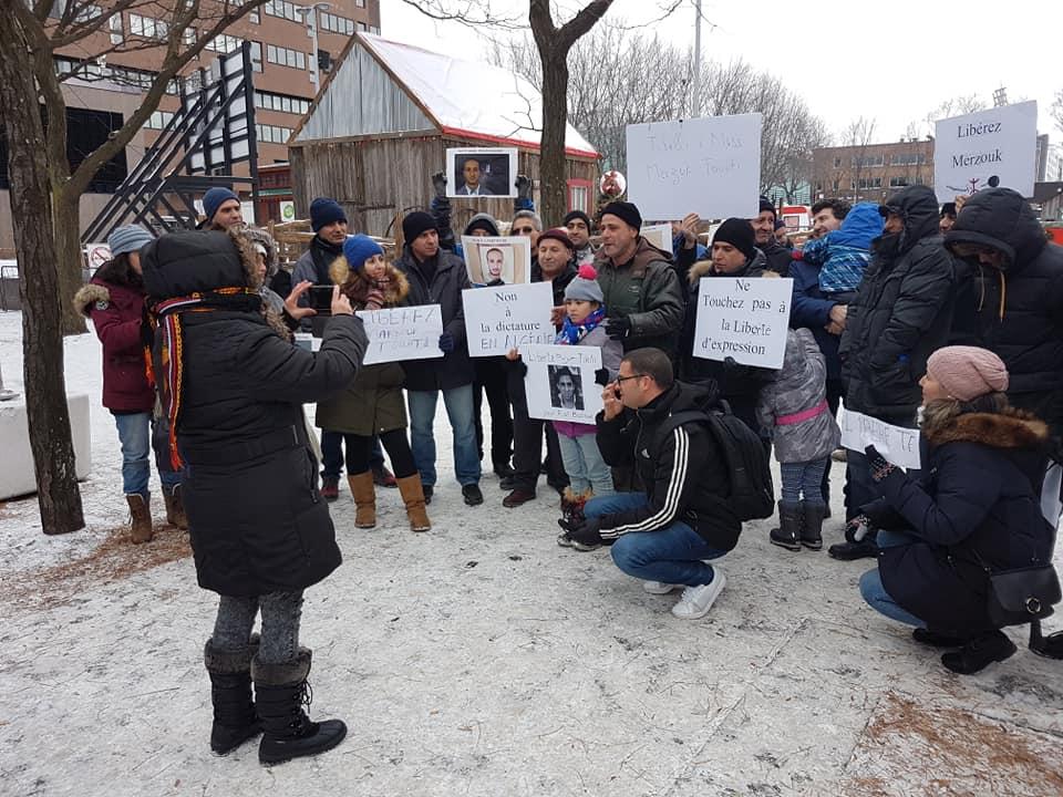 Rassemblement pour la libération de tous les détenus d'opinion à Montréal  le dimanche 09 décembre 2018 20254