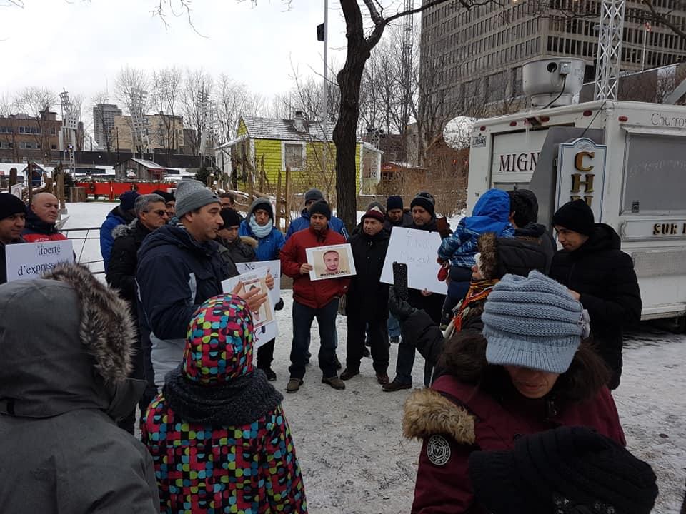 Rassemblement pour la libération de tous les détenus d'opinion à Montréal  le dimanche 09 décembre 2018 20257